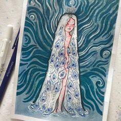 "michaela ☔️ | aspiring artist on Instagram: ""watercolour & marker illustration for one fairytale 🦚 (i changed the background a little bit..)"" Fairytale, Watercolour, Markers, My Arts, Illustration, Artwork, Artist, Instagram, Fairy Tail"