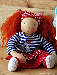 Julie  16 inch with additional outfit   waldorf doll by MaRiAS Nature TOY'S