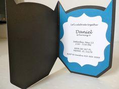 Batman invitation card by creationsbychoco on Etsy, $31.00