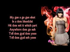 Nicki Minaj - Gun Shot (ft. Beenie Man) Lyrics Video - YouTube