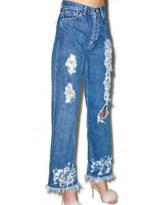 #DollsKill #lookbook #photoshoot #model #LittleSunnyBite #damaged #denim #jeans #distressed #holes #frayed