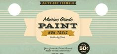 50's style logo design: Vintage Types, Painting Cans, Vintage Labels, Vintage Packaging