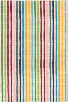 Dash & Albert Rainbow Stripe Woven Cotton Rug