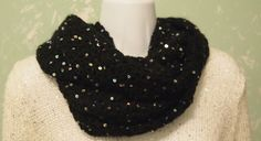 A personal favorite from my Etsy shop https://www.etsy.com/listing/263654330/black-with-silver-sequins-infinity-scarf