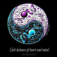 Seek balance of heart and mind. #quotes #balance #yinyang
