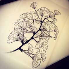 Le Gingko de Mano! #texturedleaves #feuilles #leavestattoo #leavestattoodesign…