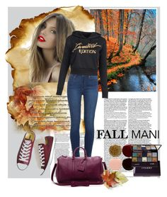 """""""fall is beauty"""" by farzija-duzel ❤ liked on Polyvore featuring Nails Inc., By Terry, Paige Denim, Sole Society and Converse"""