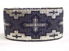 Southwestern Beaded Cuff Bracelet from Desert Sage Bead Art - Kathleen Brannon