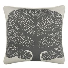 Thomas Paul pillow Arboretum Charcoal Designer Pillow, Designer Throw Pillows, Contemporary Decorative Pillows, Living Room Pillows, Charcoal, Interiors, Black And White, Black N White, Designer Cushions