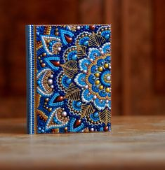 Notebook, Notepad, Notebook handmade, Notebook Journal, Dotart, Undated Notebook PLEASE, ATTENTION! The notebook is NOT IN STOCK! I need 7 days for paint it, after that, Ill send it to you. Undated Notepad A6 painted in the technique of dot art. The paint was made only FOR ONE side of the