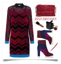 """""""Red Dress contest!"""" by faten-m-h ❤ liked on Polyvore featuring M Missoni, L.K.Bennett, Burberry, D.L. & Co. and NARS Cosmetics"""