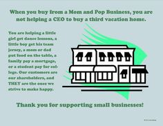 When you buy from a small business, you build your local economy. Make a Difference - Buy From a Small Business