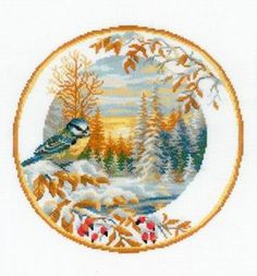 What a lovely kit , for a lovely time of year..... MariesCrossStitch #crossstitch