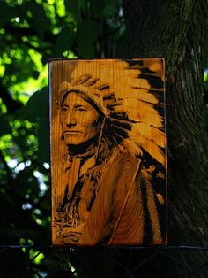 Photo on wood.
