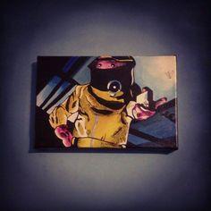 Obra: BTTF Darth Vader Tecnica: Acrilico | Materiales : Bastidor 20 * 30 2014 Replica