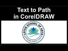 Fitting text to path CorelDraw - YouTube