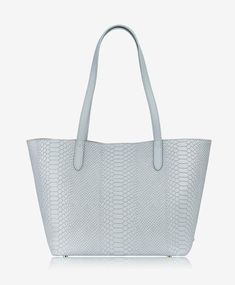 GiGi New York Teddie Tote Embossed Python Clear Bags, Python, Shopping Bag, New York, Handbags, My Style, Leather, Stuff To Buy, Accessories
