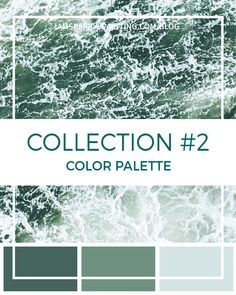 It's time for more color combinations! Here we have five new beautiful color palettes for you - Sherwin Williams color info and all. Blue Green Paints, Green Paint Colors, Neutral Paint Colors, Green Colour Palette, Paint Colors For Home, Color Palettes, Colours, Exterior Color Schemes, Exterior Paint Colors