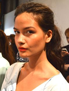 Nude Skin + Coral Lip = Relaxed Glamour http://www.ivillage.com/super-do-able-beauty-tips-backstage-during-ny-fashion-week/5-a-546348?cid=pin|9-10-13|76