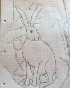 """""""More grown up stuff today. Big hare for my winter quilt. X #hare #wildlife #winter #raggedyruffdesigns #winterquilt"""""""