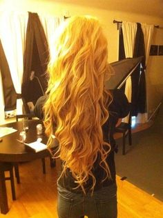 pretty long blonde hair