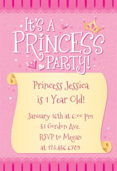Princess St Birthday Invites Google Search Julies Pretty - Free birthday invitation templates pink and gold