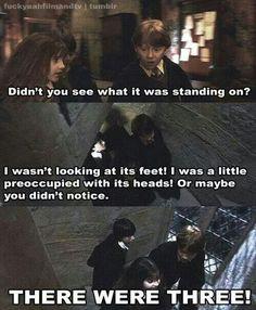 Ron's sarcasm xD