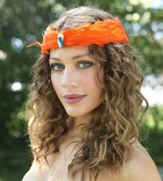 Feathered headband from Hats by Selima in NYC