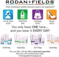 Rodan and Fields Regimens are more affordable than you think along with being a fabulous investment for yourself. Each regimen contains four steps and it lasts for two months! I use the Unblemish regimen and it has been LIFE CHANGING for me! Rodan And Fields Regimen, My Rodan And Fields, Rodan And Fields Business, Rodan And Fields Consultant, Rodan And Fields Prices, Rodan And Fields Products, Rodan And Fields Launch Party, Redefine Regimen, Independent Consultant