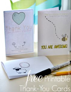 free printable thank you cards--I am writing to express my deep and sincere thanks