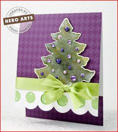 I love the tree. Also has link to video tutorial for how to make this pocket card