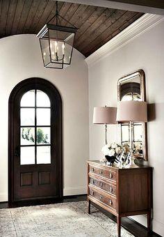 Classic Wood Paneling Ceiling #basementtrayceilingideas