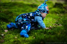 Nähfrosch Strampelhose Mikey Freebook von Le-Kimi Jersey Boo von Shalmiak Halloween Knotenmütze Freebook von Klimperklein SweetDays Blue Jersey von Shalmiak Nähen für Baby Sewing for Babys