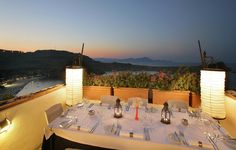 Melenos Lindos Hotel - Greece - Imagine yourself having dinner with such a wonderful view!