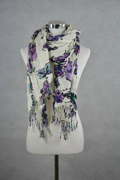 Trendiger Leinenschal mit Flowerprint von Mexx online kaufen - Grösse one size - Marke Mexx   Vintage-Fashion Online Shop fürs Verkaufen und...