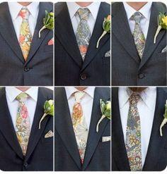 Elise Bergman Liberty of London floral grooms party ties Bride Buzz