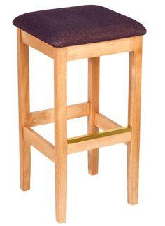 Holsag - Bulldog Backless Upholstered Counter Stool - 24 in.