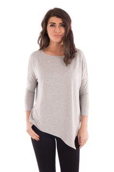 ASYMMETRICAL HEM TOP #asymmetricalhem #grey #fashion #style #springfashion #fashiontrends #newtrends #ss17 #ootd #newarrivals