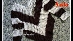 Crochet Jars - Bolero Croche Infantil manga - Crochet Bolero very easy - Ganchillo Bolero Blouse Au Crochet, Crochet Cardigan, Crochet Lace, Crochet Bobble, Crochet Stitches, Knitting Videos, Crochet Videos, Crochet Clothes, Woman Clothing