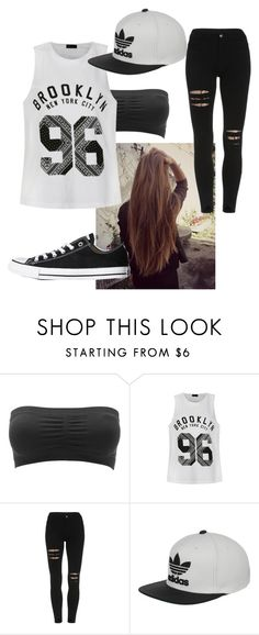 Outfit #1 by unicornicamitha on Polyvore featuring Ally Fashion, Charlotte Russe, Converse and adidas
