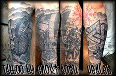 Viking Sleeve healed By Enoki Soju by enokisoju.deviantart.com on @deviantART