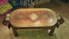 Antique handmade Indian elephant table. £140.00, via Etsy.