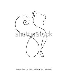 One line cat design silhouette.hand drawn minimalism style vector illustration easy drawings Image vectorielle de stock de One Line Cat Design Silhouettehand Drawn 657220000 Diy Tattoo, Tattoo Ideas, Cat Drawing, Line Drawing, Drawing Style, Cat Outline Images, Tatuagem Diy, Illustration Tattoo, Illustration Ligne
