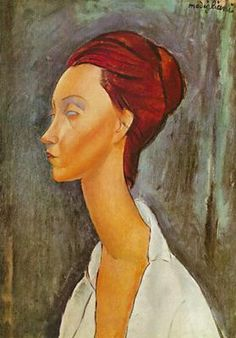 paintings of Lunia Czechovska by Modigliani