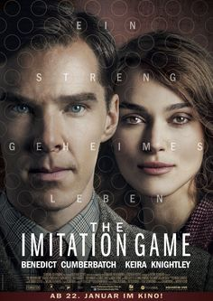 Keira Knightley and Benedict Cumberbatch in The Imitation Game Keira Knightley, Internet Movies, Movies Online, See Movie, Movie Tv, Benedict Cumberbatch, The Imitation Game Movie, Movies And Tv Shows, Movies Showing