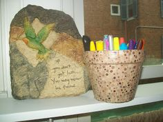 How To Decoupage Terra Cotta Pots with Fabric - 4 You With Love