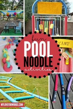 Great activities for summer! Who you can do so many things with pool noodles?!