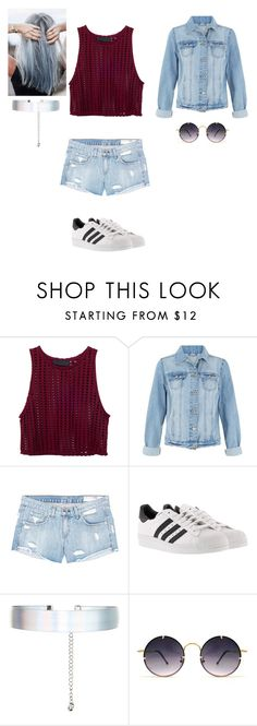 """""""Le Denim"""" by jalissaj ❤ liked on Polyvore featuring rag & bone/JEAN, adidas, Accessorize, Ultimate and Spitfire"""