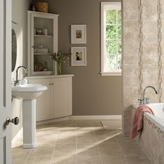 Tile Inspiration Gallery | Daltile (the wall color)
