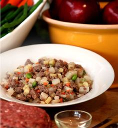 Homemade Dog Food Recipe | JustFoodForDogs Beef and Russet Potato